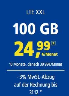 LTE XXL 100GB