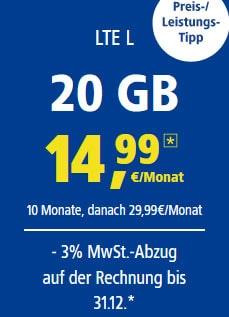 20GB 1&1 LTE Tarif