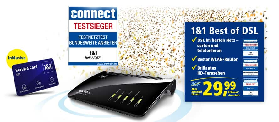 1&1 BEST of DSL Angebot
