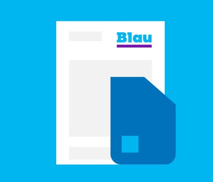Blau.de Mobilfunkvertrag