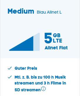 Blau Tarif 5GB LTE