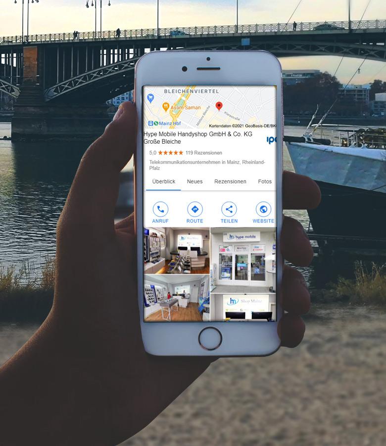 Finde Hype Mobile Handyshop Mainz auf Google